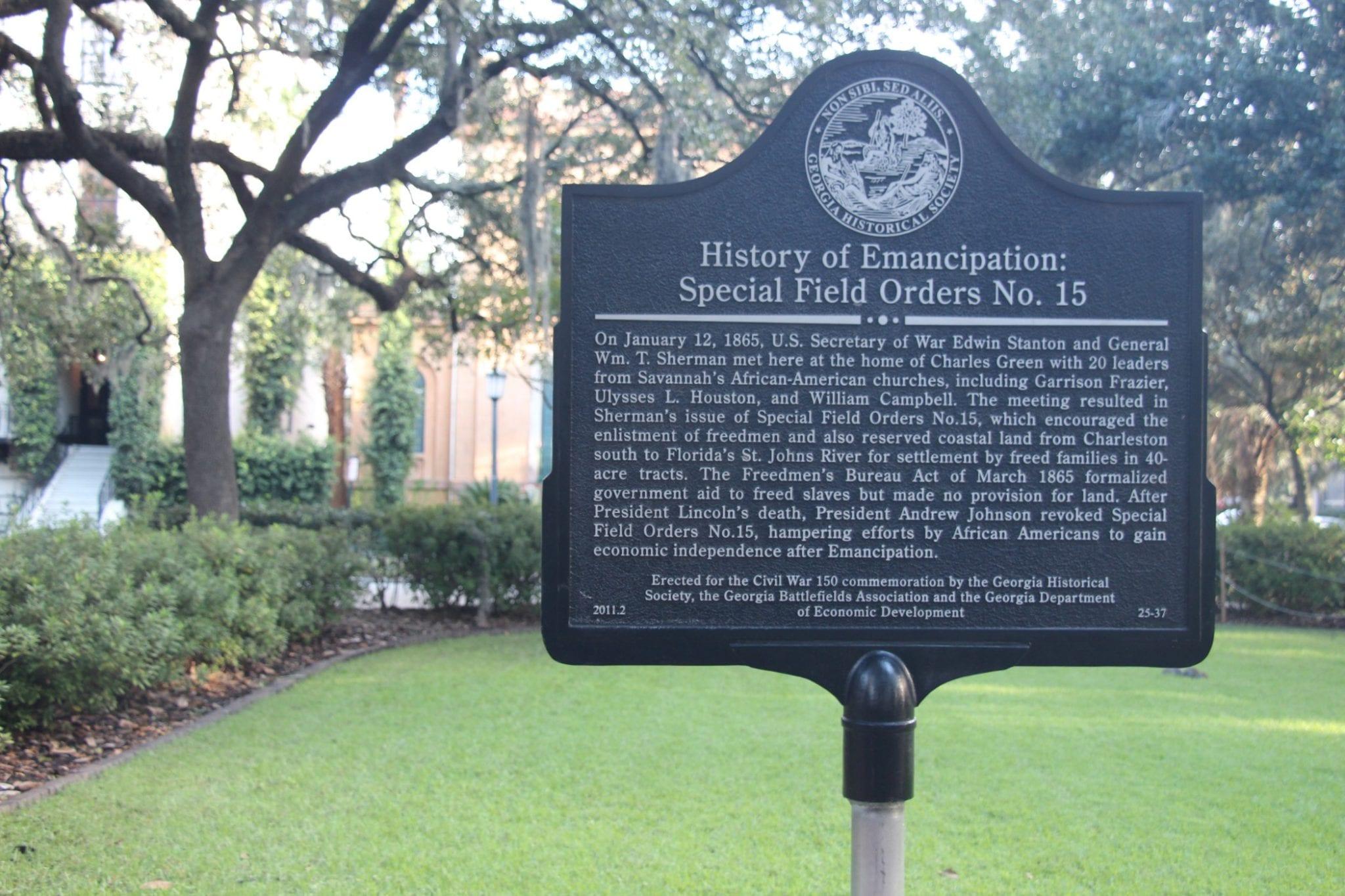 Historical Marker Savannah Square